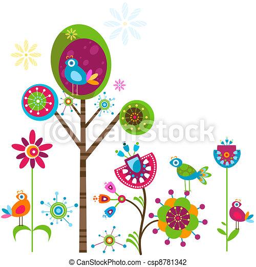 fleurs, fantaisie - csp8781342