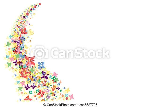 fleurs, fond - csp6527795