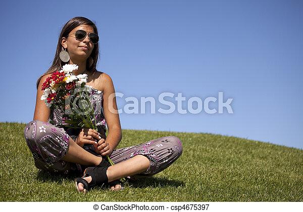 fleurs fraîches, adolescent - csp4675397