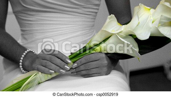 fleurs, mariage - csp0052919