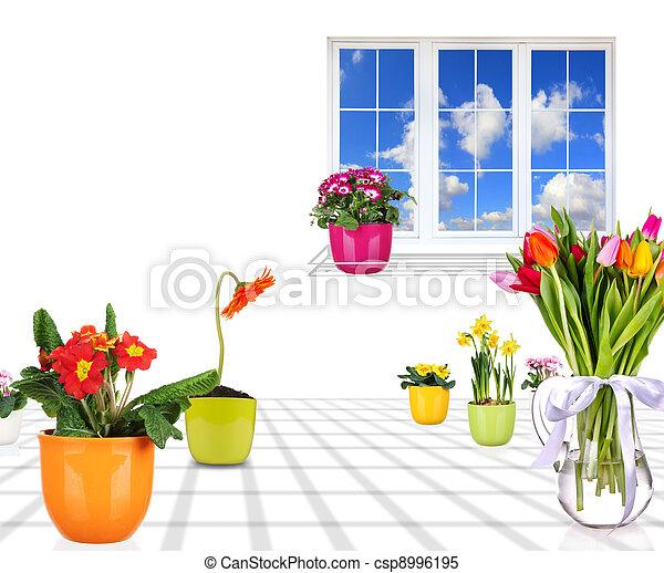 fleurs ressort - csp8996195