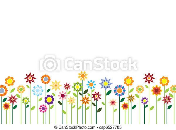 fleurs ressort, vecteur - csp6527785