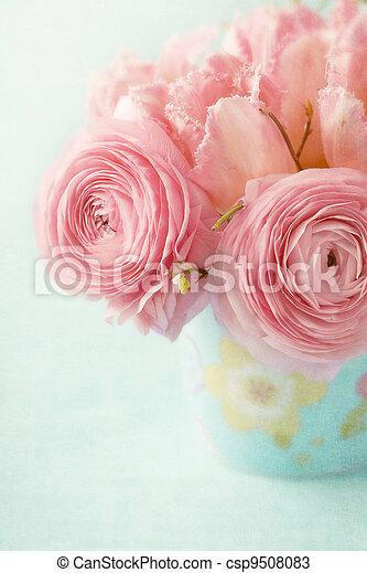 fleurs roses - csp9508083
