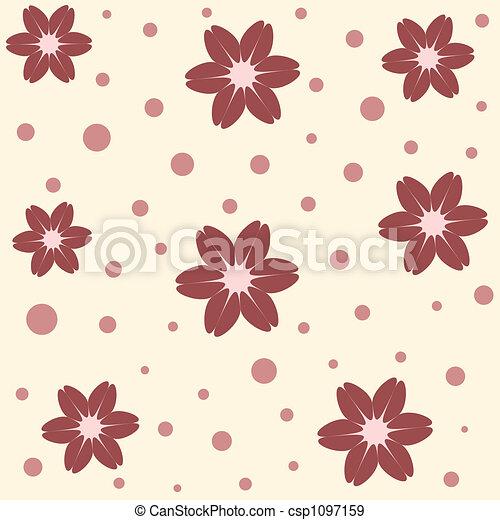 fleurs, seamless - csp1097159