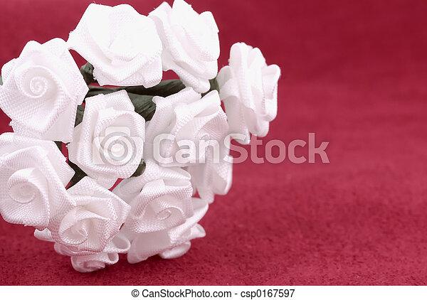 fleurs, tissu - csp0167597
