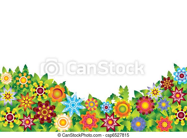 fleurs, vecteur, jardin - csp6527815