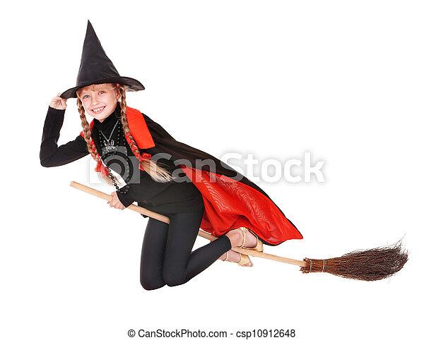 fliegen broom halloween hexe kost m kind fliegen. Black Bedroom Furniture Sets. Home Design Ideas
