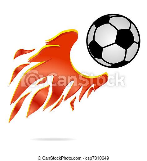 Fliegen Kugel Feuer Fussball Zeichen Sport Fliegen