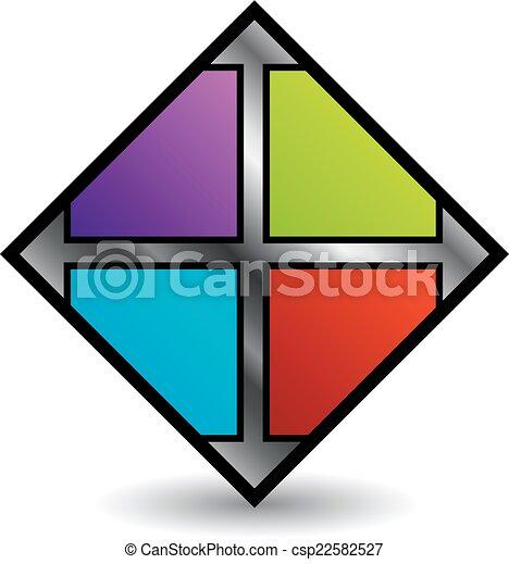 Fliese, logo, geschaeftswelt, boden. Fliese, logo,... Vektor ...