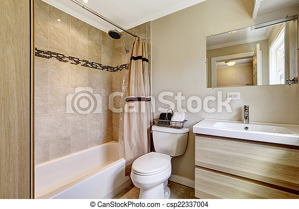 fliese, trimmen, badezimmer, beige