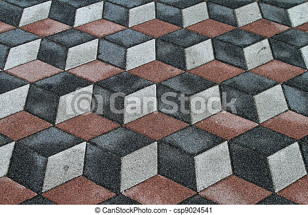 Fliesenmuster 3d Boden Fliesenmuster Optisch Altes Illusion 3d