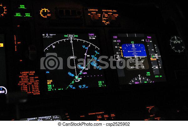 Flight deck, cockpit - csp2525902