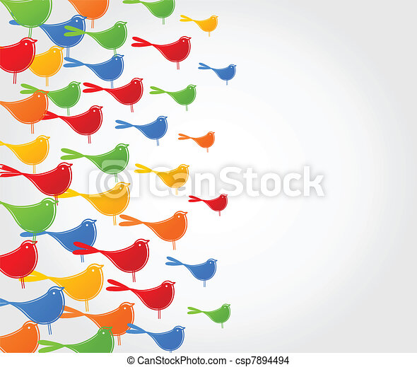Flight of birds - csp7894494