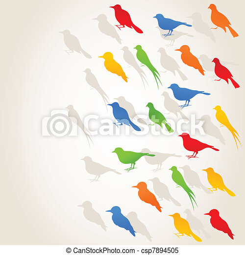 Flight of birds4 - csp7894505