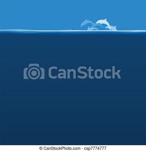 Flight of dolphins - csp7774777