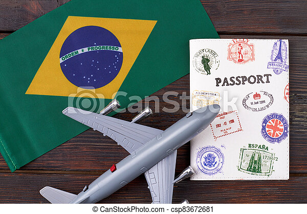 Flight to Brazil concept. - csp83672681
