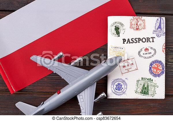 Flight to Poland concept. - csp83672654
