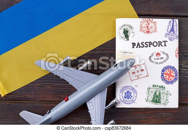 Flight to Ukraine concept. - csp83672684