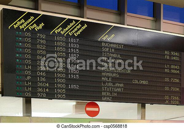flightinformation panel - csp0568818