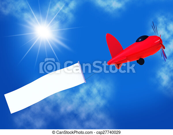 And Space Blank Flights Air Shows Banner