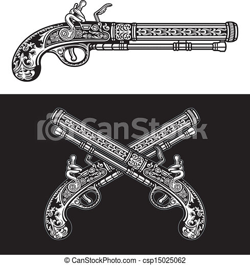 Flintlock Antique Pistol - csp15025062