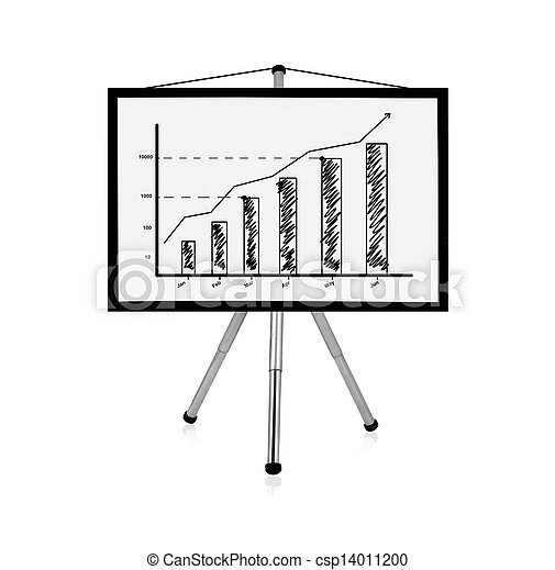 flip chart with chart - csp14011200