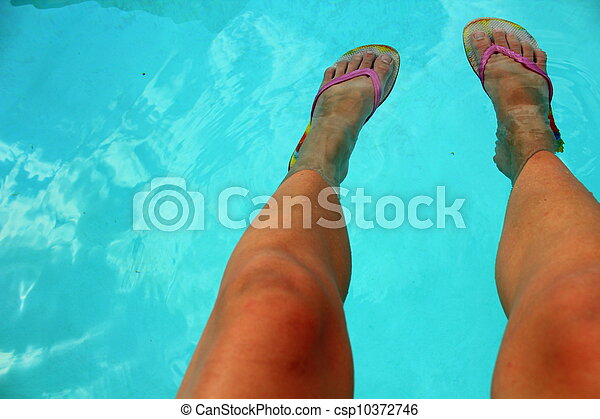 That interfere, flip flop feet are