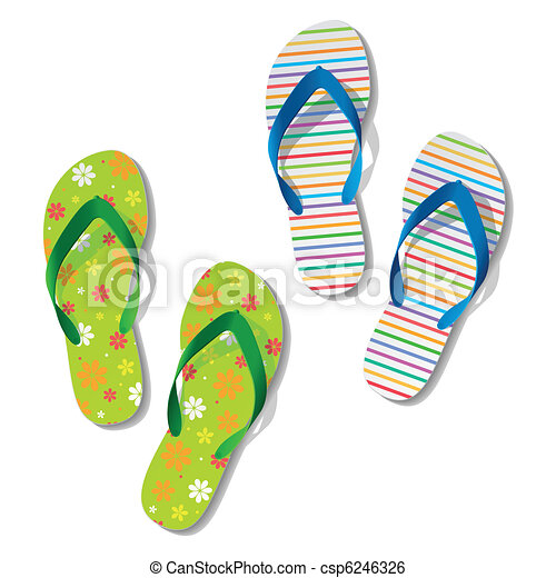 05cd5714d Vector design flip flops thongs sandals summer shoes Illustrations and  Clipart. 431 Vector design flip flops thongs sandals summer shoes royalty  free ...