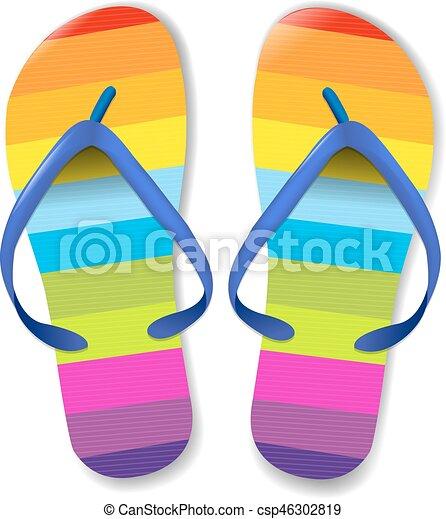 flip flops with gradient mesh vector illustration vector clip art rh canstockphoto co uk flip flop clipart flip flop clipart black and white