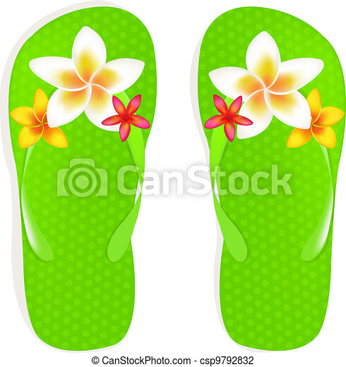 Flip flops with flowers flip flop sandals with plumeria flowers flip flops with flowers csp9792832 mightylinksfo