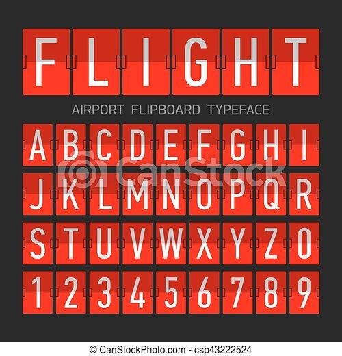 Font estilo aeroplano del aeropuerto - csp43222524