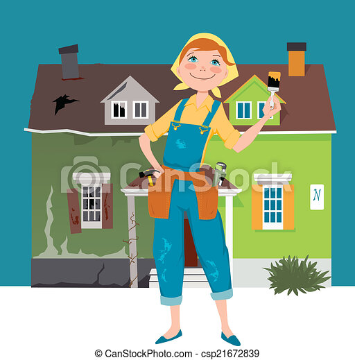 Flipping a house - csp21672839