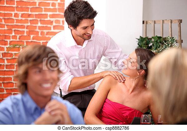 Flirt with a massage - csp8882786