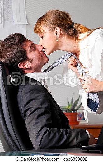flirting at office - csp6359802