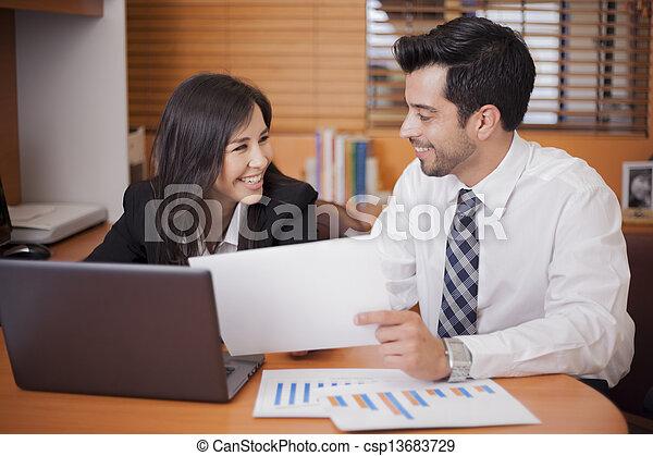 Flirting at the office - csp13683729