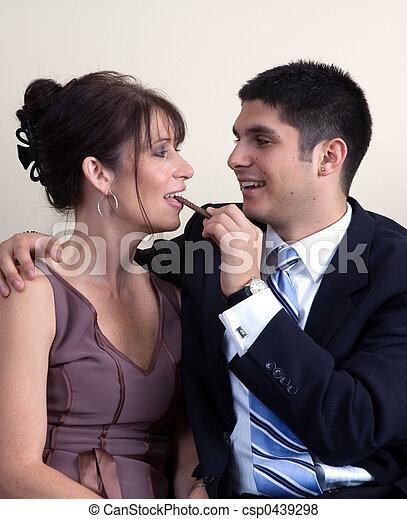 Flirting Couple - csp0439298