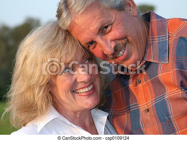 Flirting Couple - csp0109124