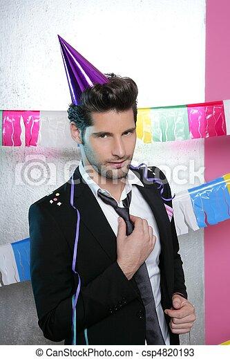flirty , νέος , πάρτυ , αποπλανητικός , χειρονομία , άντραs  - csp4820193