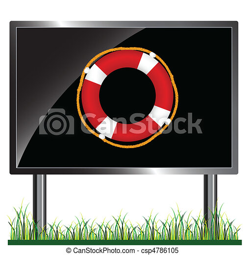 float recovery on the billboard - csp4786105