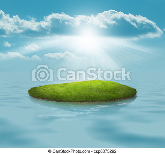 Floating Island - csp8375292