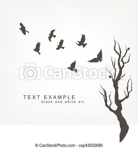 flock of flying birds - csp43502680