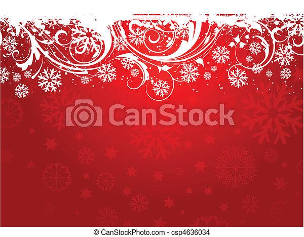flocon de neige, fond - csp4636034