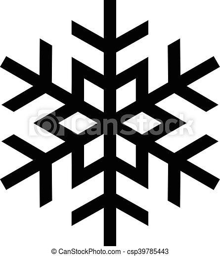 flocon de neige, froid, vecteur, hiver, icône - csp39785443