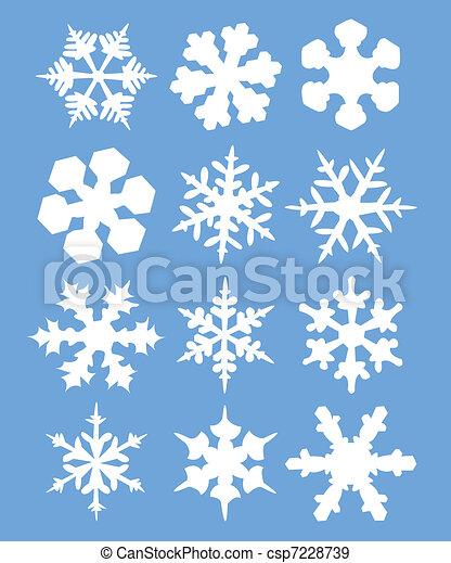 flocons neige - csp7228739
