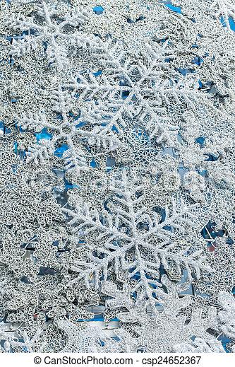 flocons neige, fond, noël - csp24652367