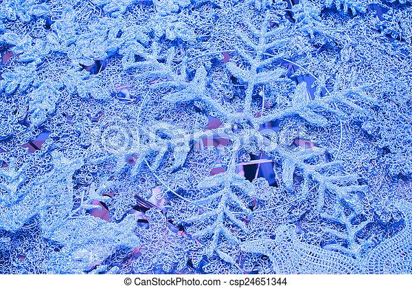 flocons neige, fond, noël - csp24651344