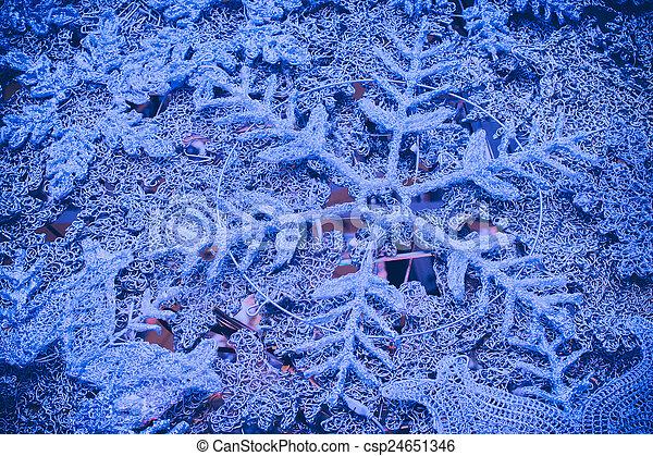 flocons neige, fond, noël - csp24651346