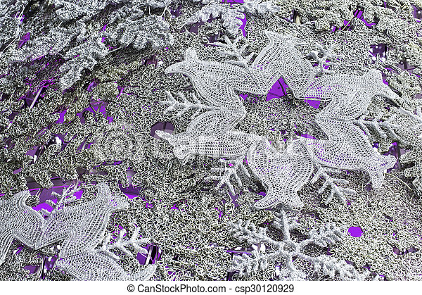flocons neige, fond, noël - csp30120929