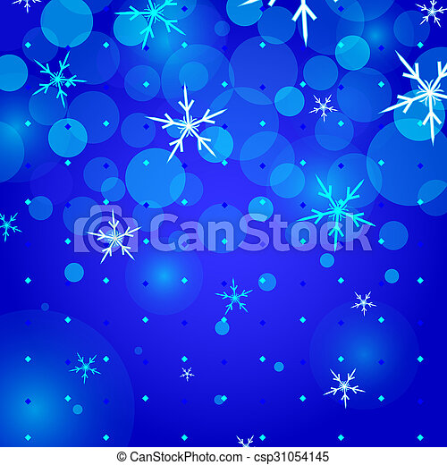 flocons neige, fond, noël - csp31054145