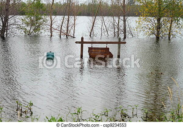 Flood in Midwest - csp9234553
